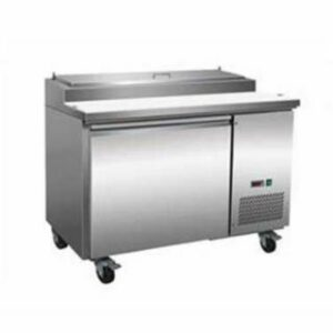 Serv-Ware 6 Pan Stainless Steel  Pizza Prep Table  PP44-6
