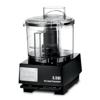 Waring 3.5-QT Flat Cover Food Processor with LiquiLock Seal System WFP14SW