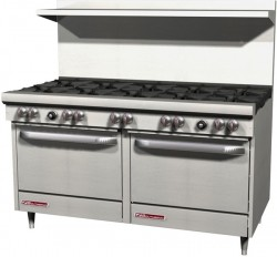 """Southbend 60"""" range with 10 burners"""
