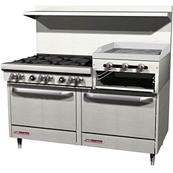 """Southbend 60"""" range with 24"""" Griddle Broiler"""