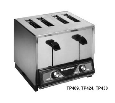 Toastmaster TP424 Pop-Up Toaster, 4-slice bread toaster 280/240V